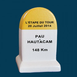 borne etape du tour 2014 Pau - Hautacam