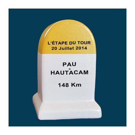borne etape du tour Pau - Hautacam